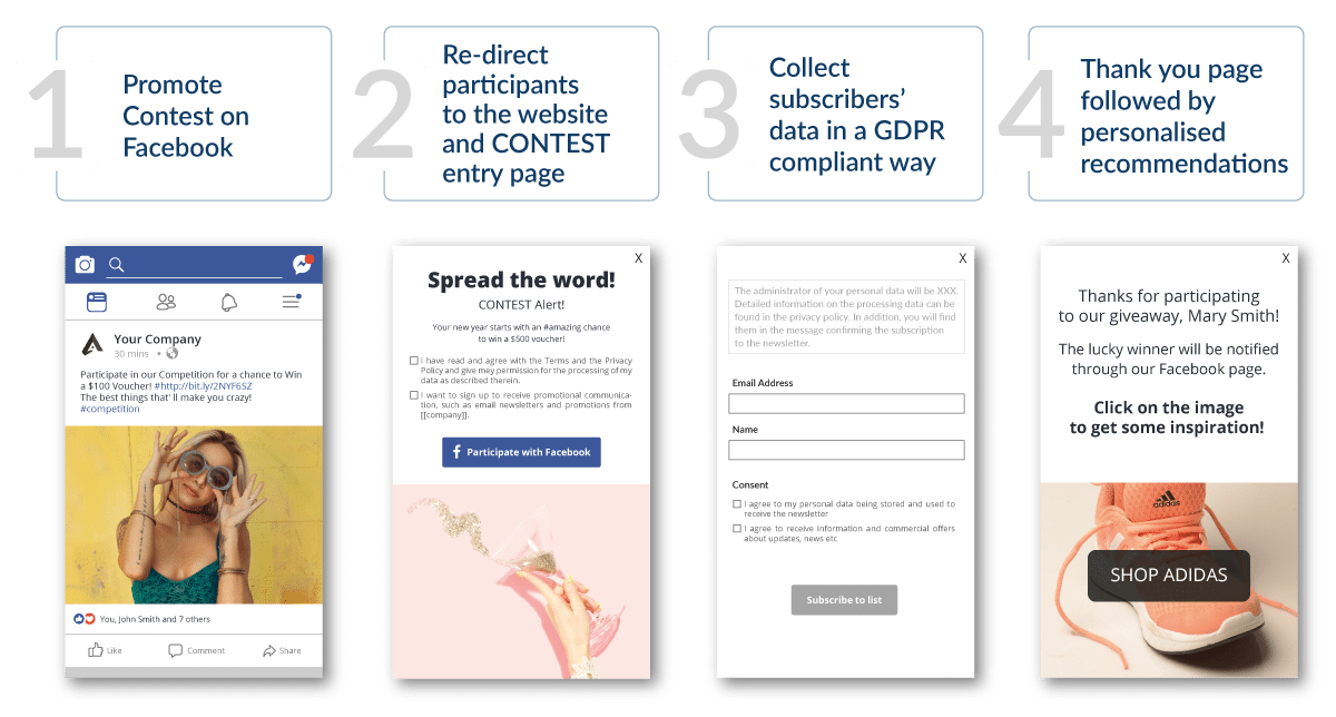 Facebook contest with seasonal promotion