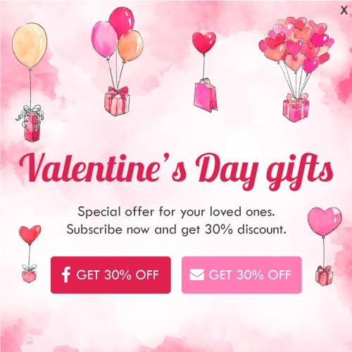 Valentine's day popup