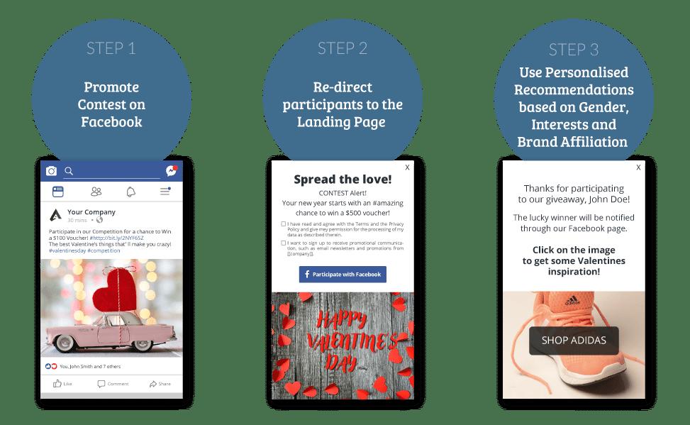 Valentine's graph facebook contests