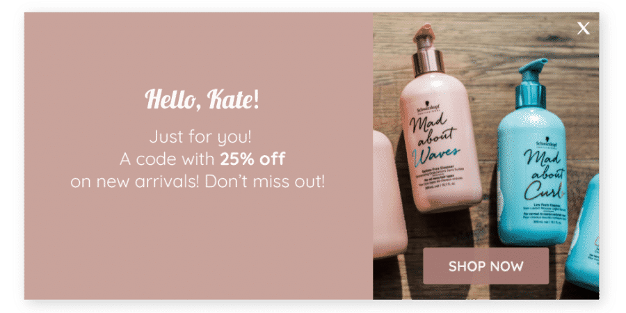 Hello Kate! Just for you! Shop now