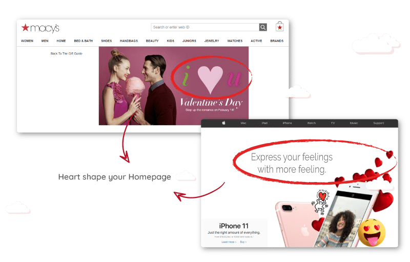 Heart shape your Homepage