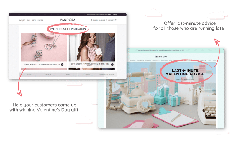 Help your customers come up with winning Valentine's Day gift
