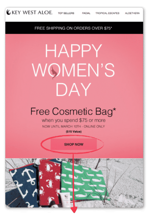 womens day landing page