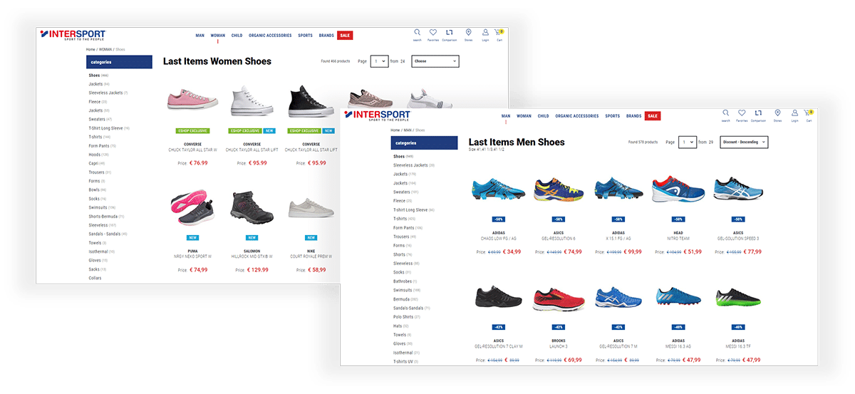 redirection of users to the relevant product pages after their subscription