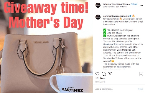 giveaway ideas for Mother's Day