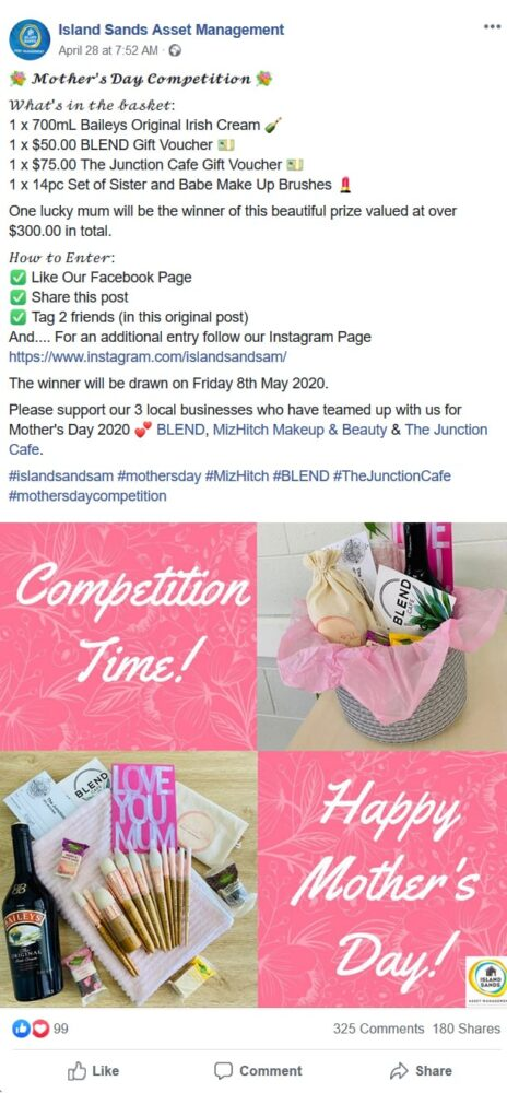 Facebook contest for Mother's Day