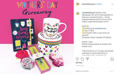 Mother's Day giveaways in social media