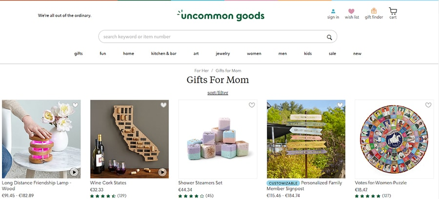 gift guide for Mother's Day