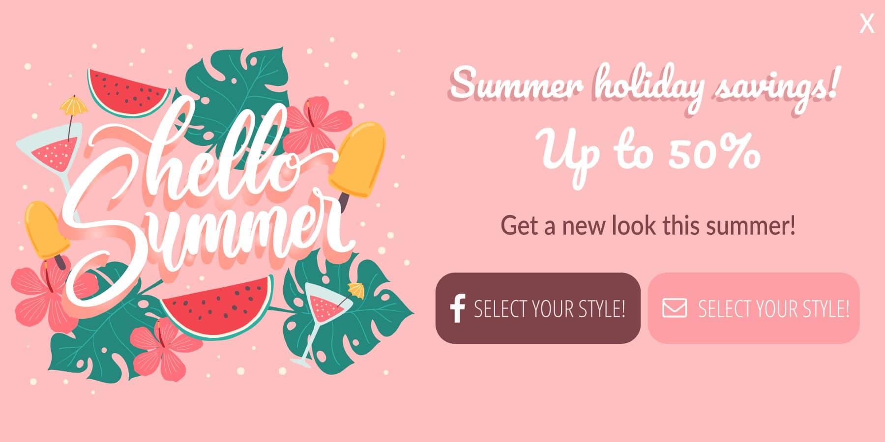 Summer holiday savings!