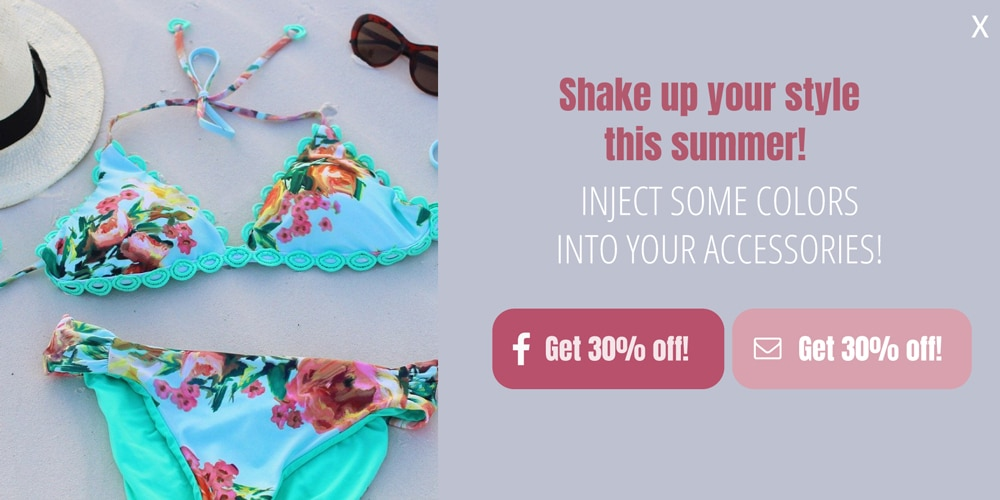 summer sales onsite campaign