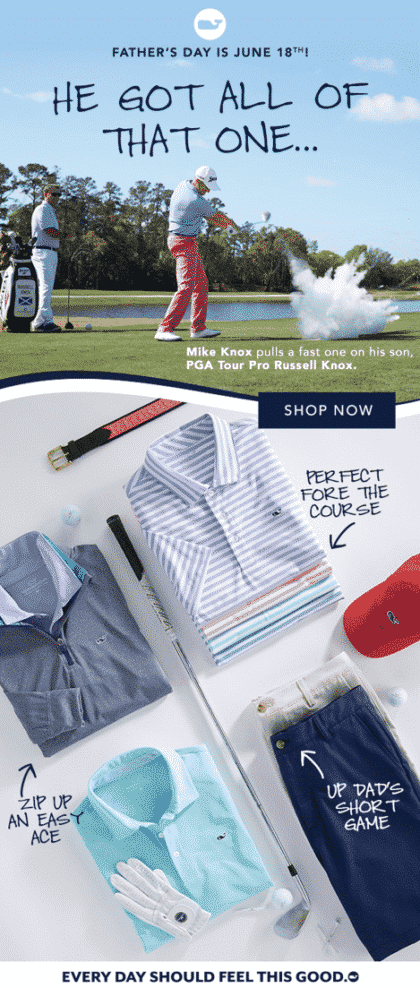 email marketing campaign about fathers day