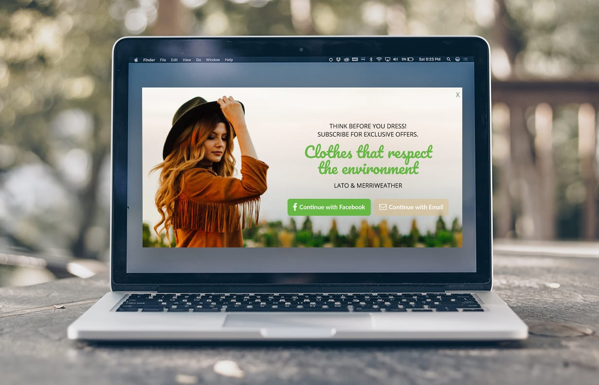 Grow email list popup
