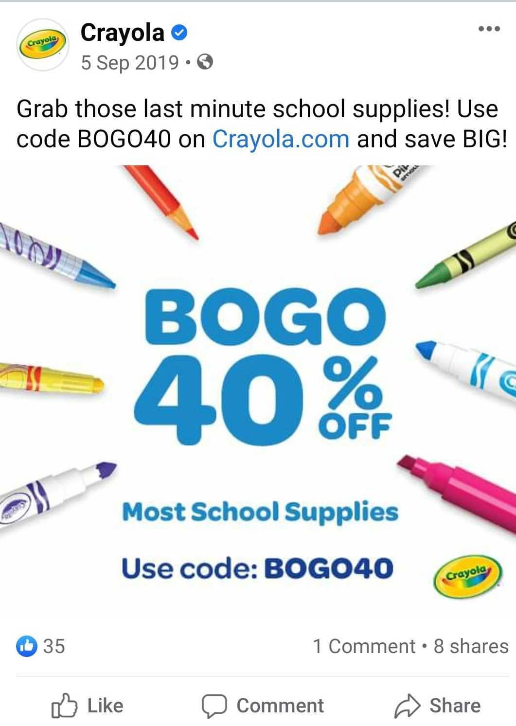 Post for back to school with giveaways
