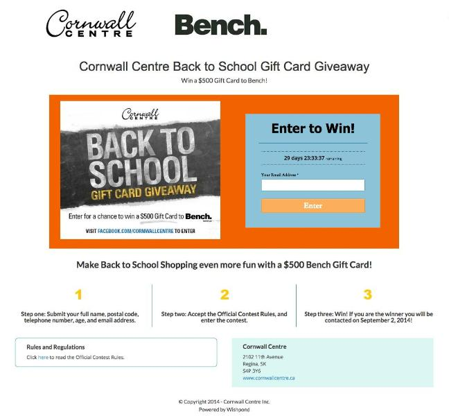 Back to School Giveaway Ideas