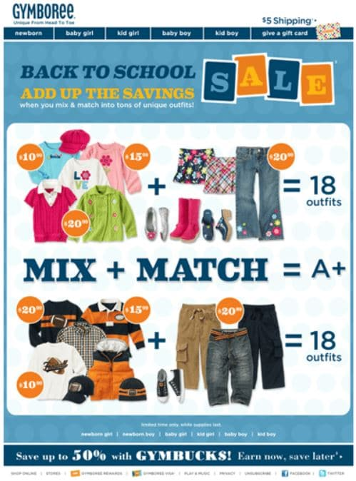 email marketing back to school