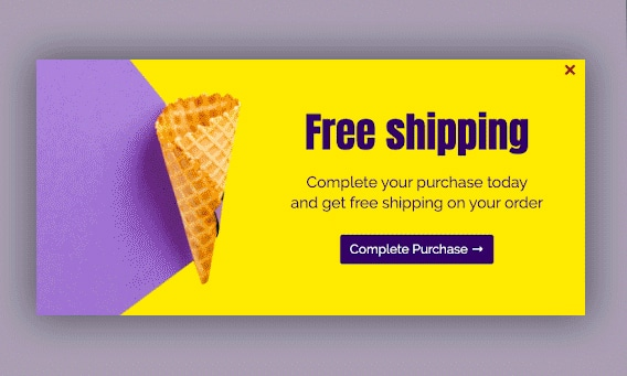 Popup free shipping