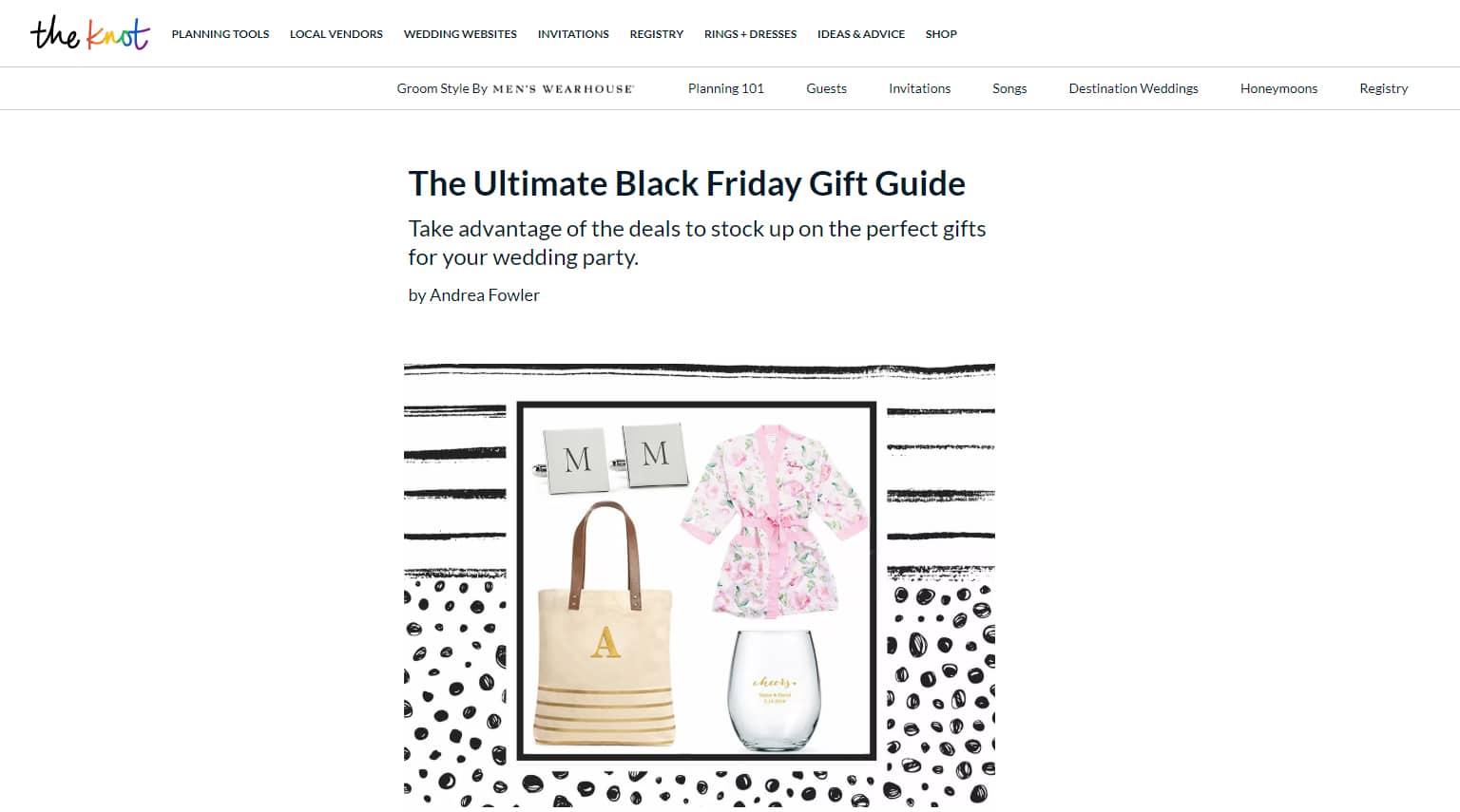 Gift guide for black friday