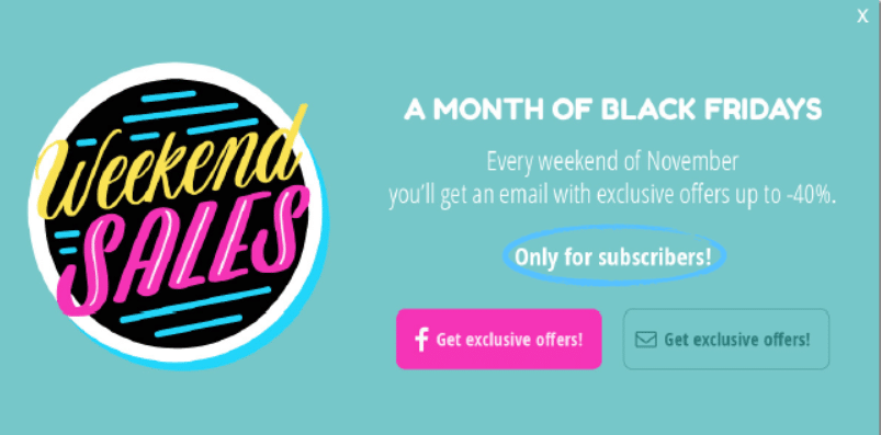 targeted offers Black friday