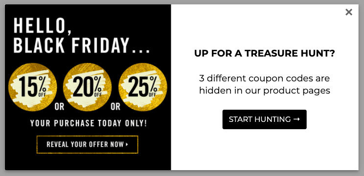 Hide a discount code on your website