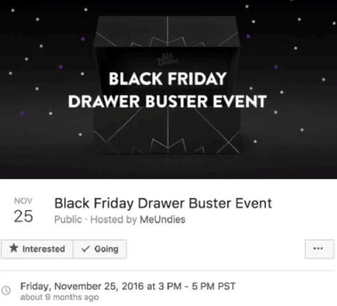 facebook event for black friday