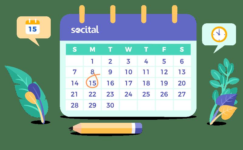 Marketing calendar by socital