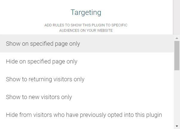 socital builder how to target users