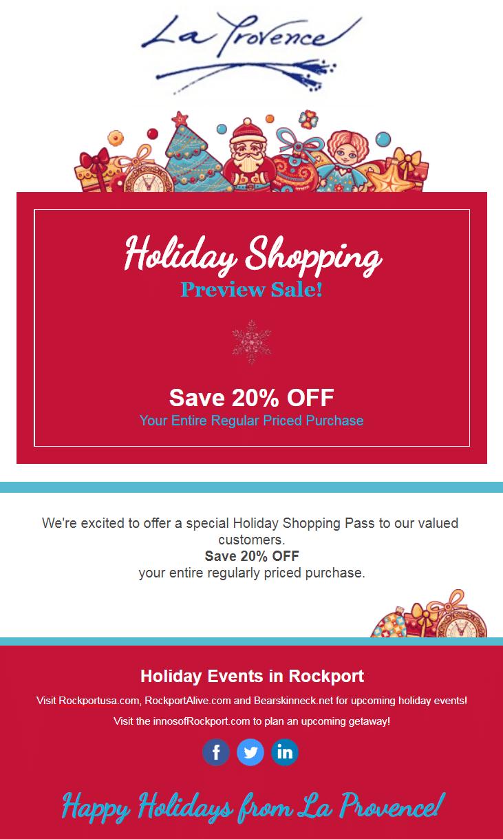 holiday marketing emails