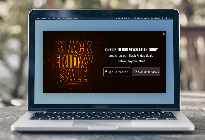 Popup Black Friday
