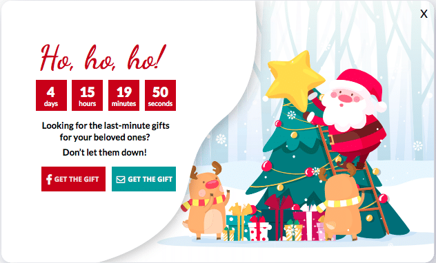 Special Christmas pop-ups
