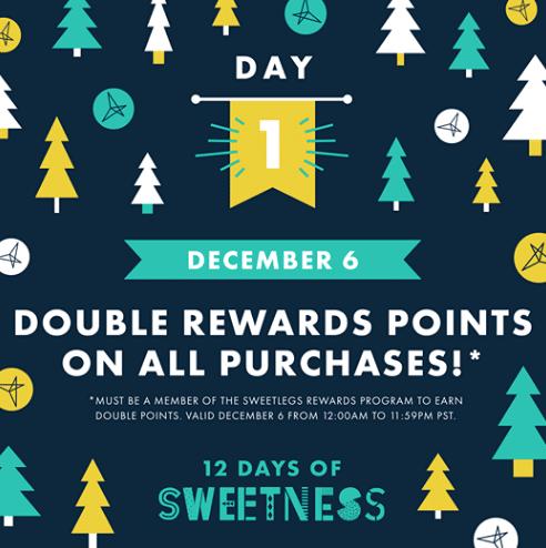 SweetLegs offering double reward points