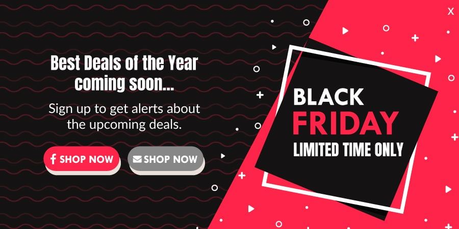 Black friday early access popup