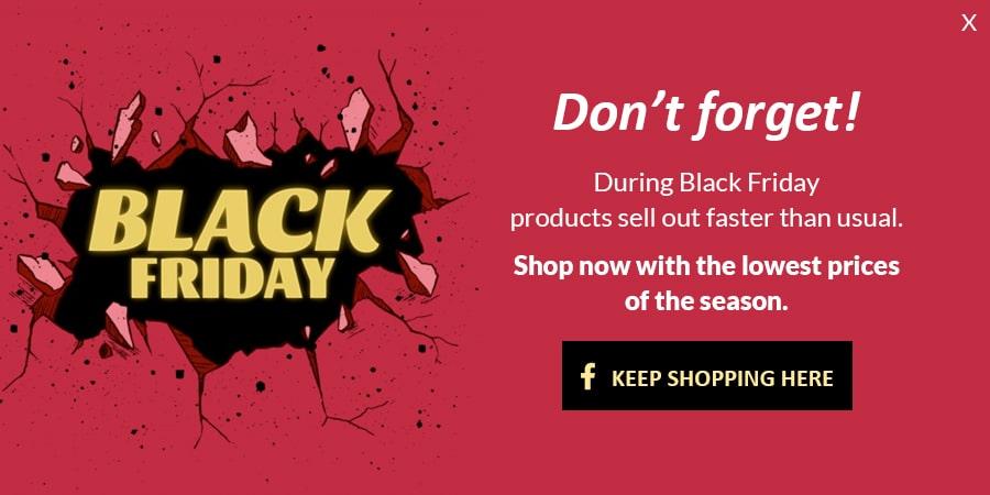 Black friday popup