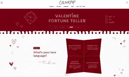 Interactive quizzes Valentine's day