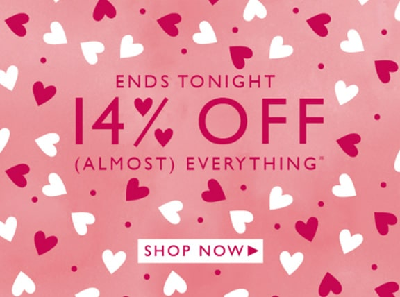 Valentine's day popup sale ends tonight