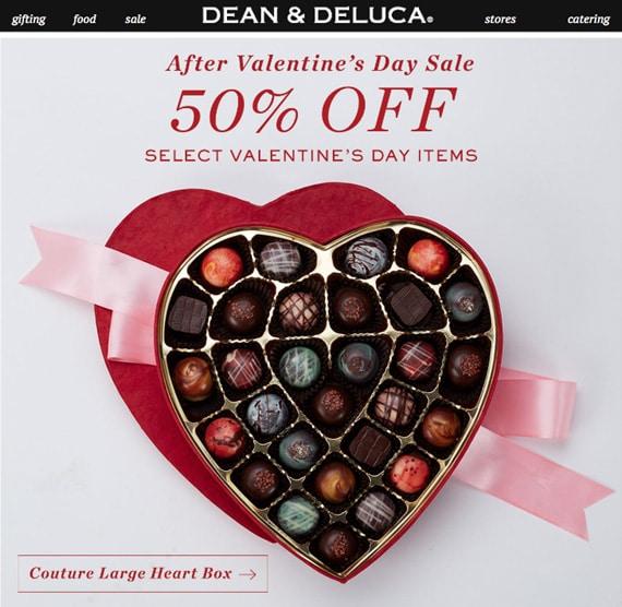 Pre- and Post-Valentine's Day sale