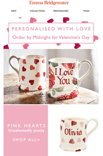 Customizable products Valentine's day