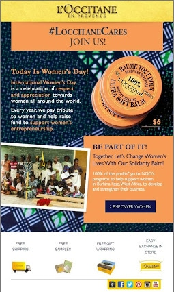 Women's Day promotion