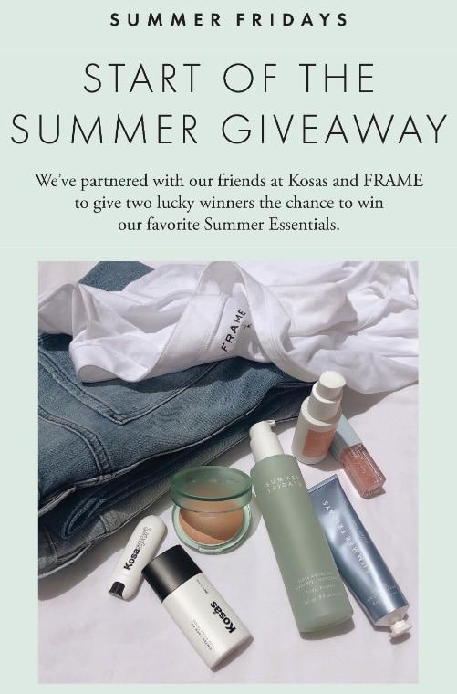 Summer giveaways