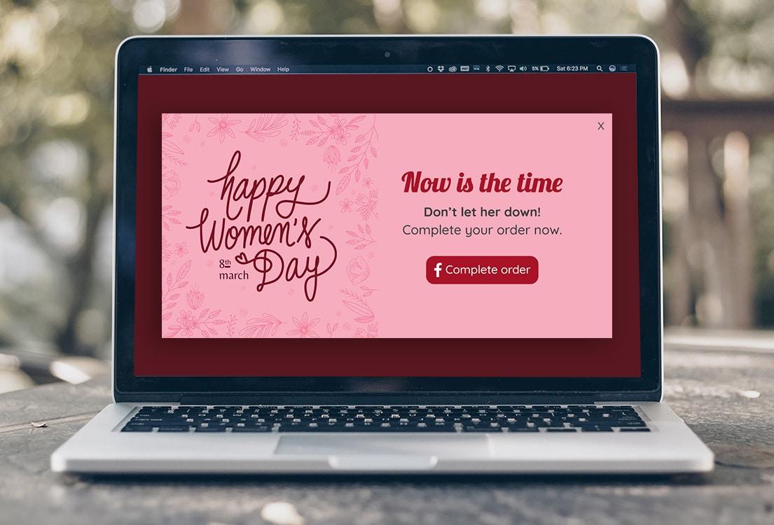 Women's day popup