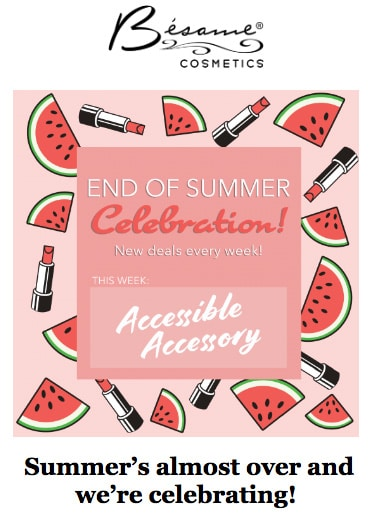 Wind down with an end-of-summer sale
