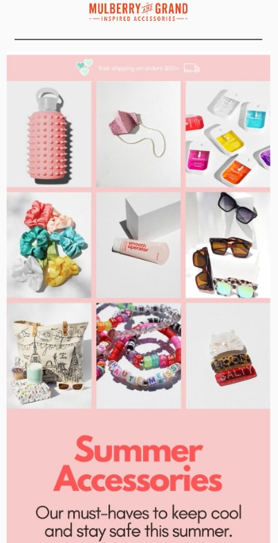 Curated summer catalogs