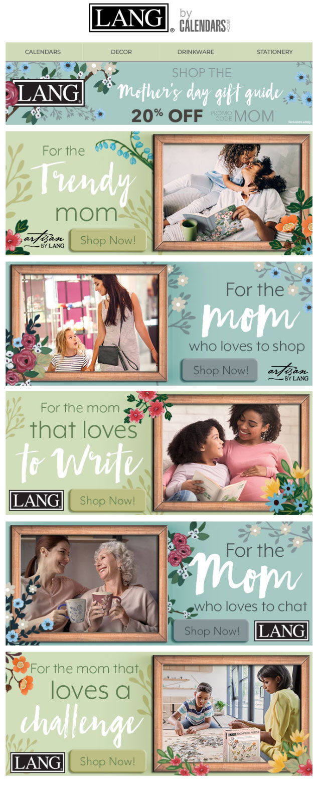 Mother's day landing page