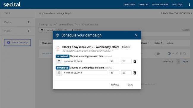 campaign Scheduler