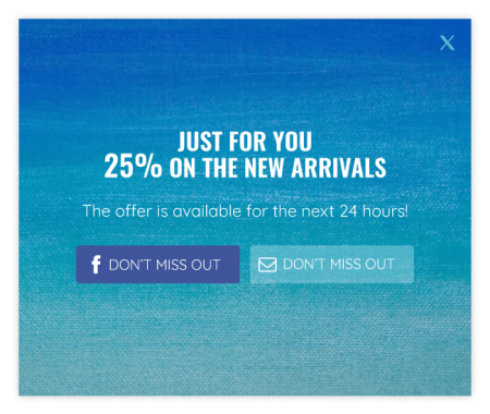 Limited time offer popup